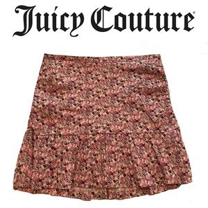 JUICY COUTURE pink floral ruffle skirt